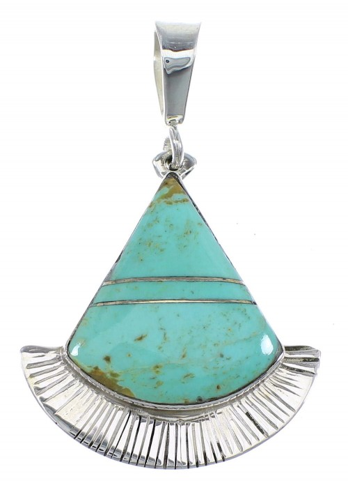 Sterling Silver And Turquoise Pendant Jewelry VX55678