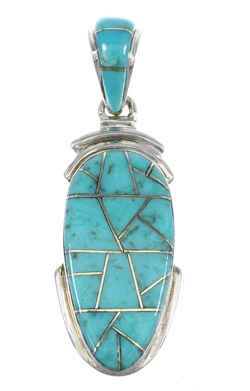 Turquoise Southwest Sterling Silver Pendant EX56468