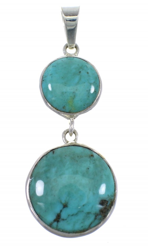 Southwest Sterling Silver Turquoise Pendant EX56484