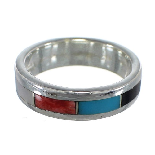 Southwest Multicolor And Authentic Sterling Silver Ring Size 8-1/4 VX58720