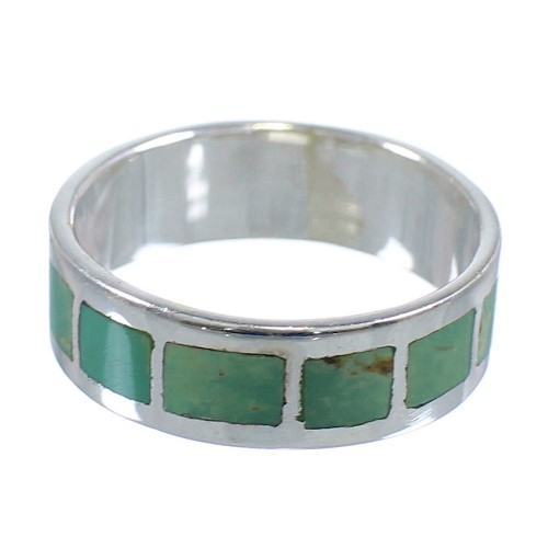 Authentic Sterling Silver And Turquoise Southwest Jewelry Ring Size 5-3/4 VX58419