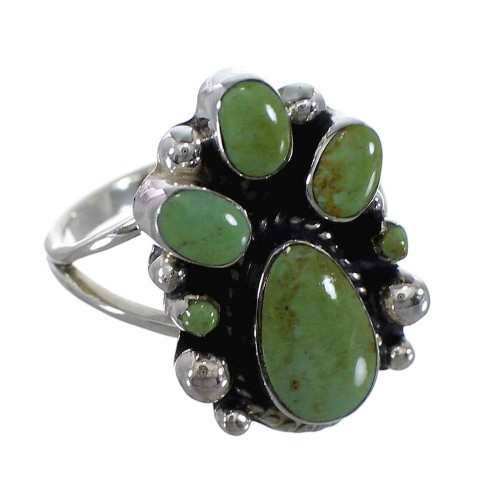 Genuine Sterling Silver Turquoise Ring Size 6 RX60420