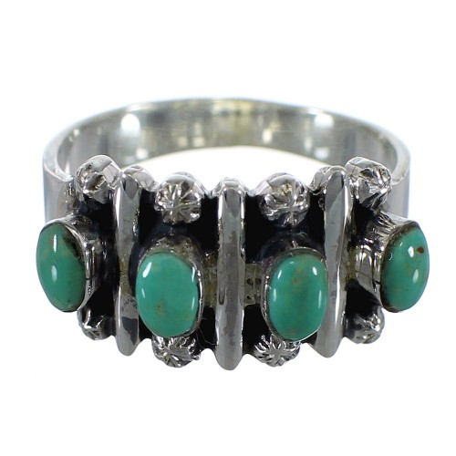 Turquoise Authentic Sterling Silver Ring Size 6-3/4 RX60612