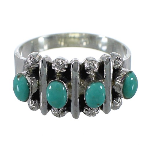 Authentic Sterling Silver Turquoise Ring Size 6-3/4 RX60616