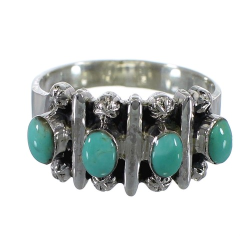 Turquoise And Genuine Sterling Silver Ring Size 6 RX60630