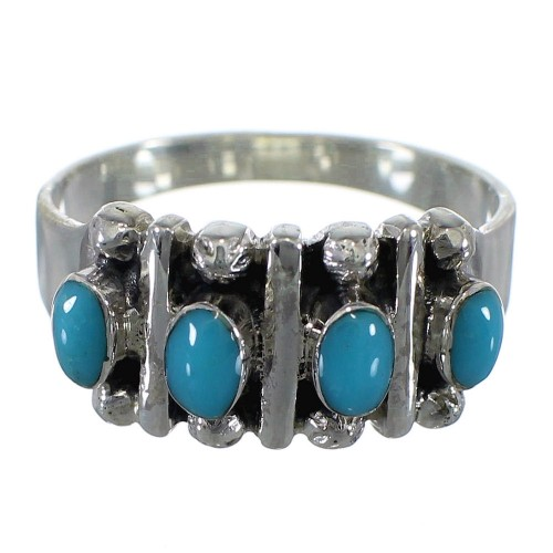 Sterling Silver Turquoise Ring Size 8-3/4 RX60644
