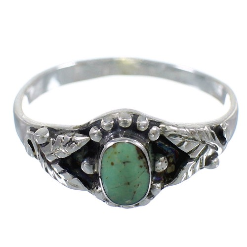 Turquoise And Authentic Sterling Silver Ring Size 6-1/4 RX59598