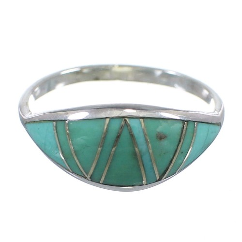 Southwest Turquoise Silver Ring Size 8-1/2 YX79601