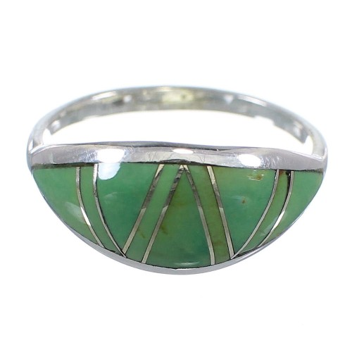 Sterling Silver Turquoise Southwest Ring Size 4-3/4 YX79669