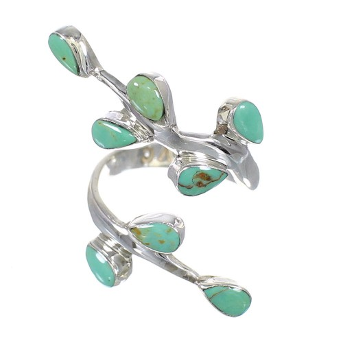 Southwest Authentic Sterling Silver Turquoise Jewelry Ring Size 6-1/4 VX62548