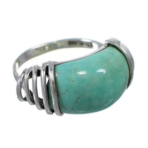 Genuine Sterling Silver Southwest Turquoise Ring Size 7 RX80905