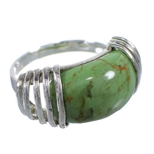 Sterling Silver Southwest Turquoise Ring Size 5-1/2 RX80945