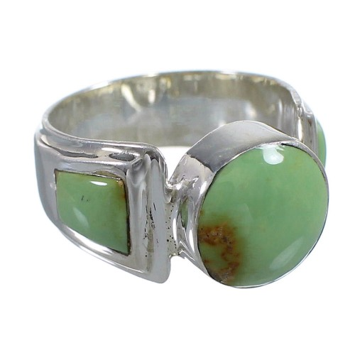 Turquoise Authentic Sterling Silver Ring Size 5-1/4 RX81042