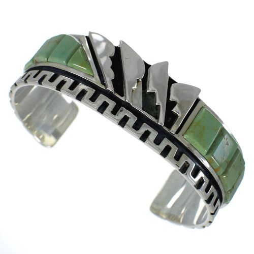 Southwest Sterling Silver And Turquoise Cuff Bracelet Jewelry VX60766