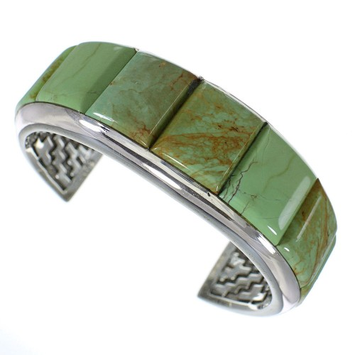 Sterling Silver Jewelry Turquoise Southwest Cuff Bracelet VX60776