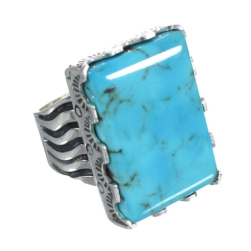Turquoise And Sterling Silver Southwest Ring Size 6-1/4 WX62119