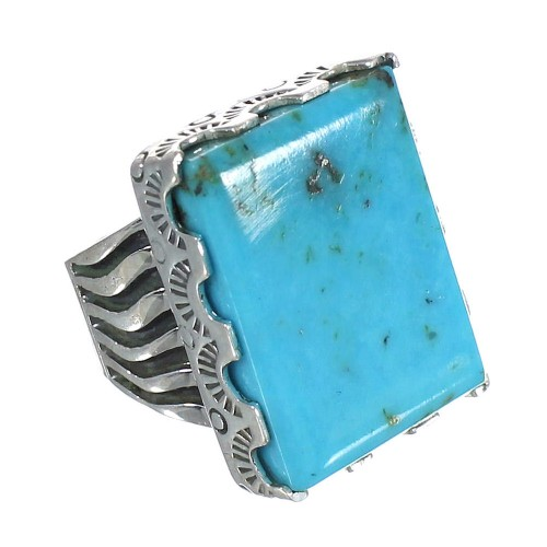 Turquoise And Authentic Sterling Silver Southwest Ring Size 4-1/2 WX62131