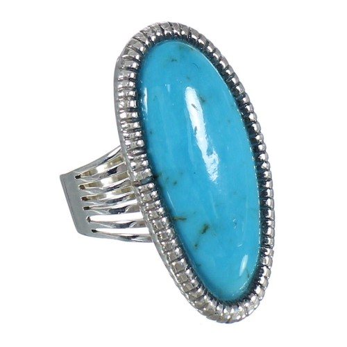 Southwest Silver And Turquoise Jewelry Ring Size 5-3/4 WX62268