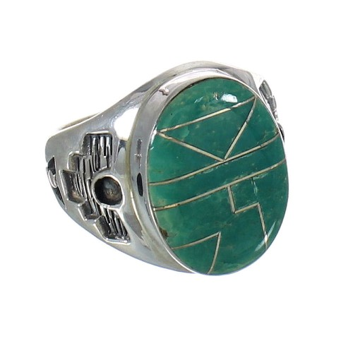 Sterling Silver And Turquoise Jewelry Ring Size 9-3/4 MX62379
