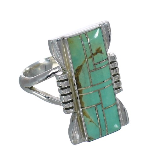 Sterling Silver Southwest Turquoise Ring Size 7-1/4 QX80272