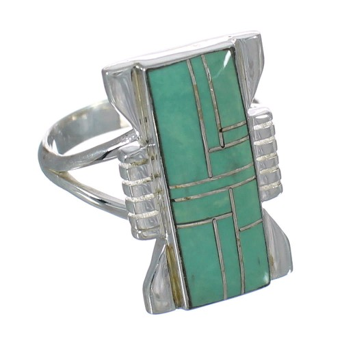 Turquoise Silver Southwestern Ring Size 8-1/2 QX80302