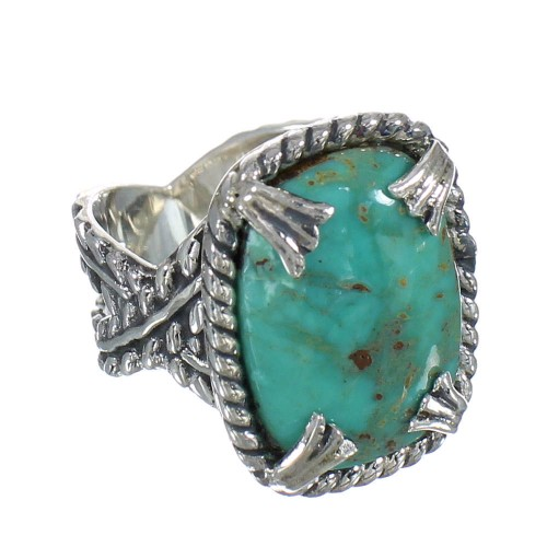 Southwest Silver Turquoise Jewelry Ring Size 6-1/2 QX80467