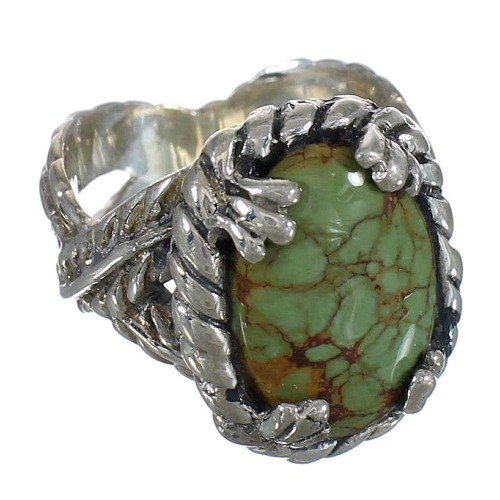 Southwest Sterling Silver And Turquoise Ring Size 5-3/4 WX80710