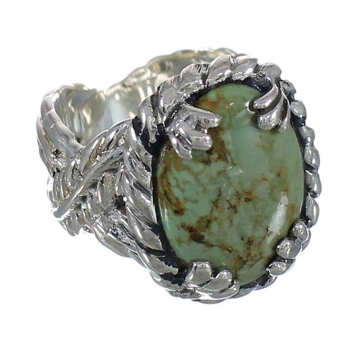 Sterling Silver Southwestern Turquoise Ring Size 4-3/4 WX80724