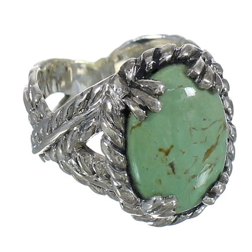 Turquoise Southwest Sterling Silver Ring Size 7 WX80726