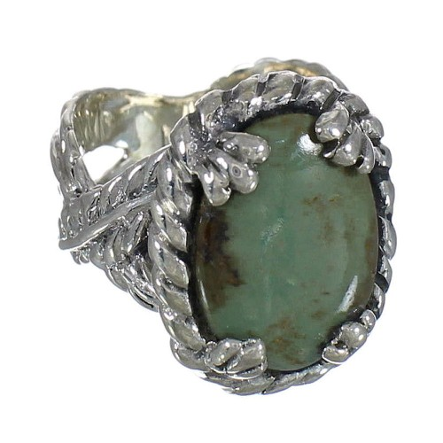 Southwest Turquoise And Genuine Sterling Silver Ring Size 5-1/4 WX80738