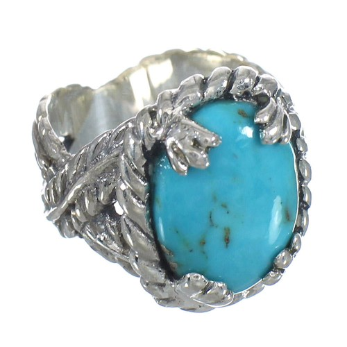 Southwest Turquoise Authentic Sterling Silver Ring Size 6-1/4 RX61973