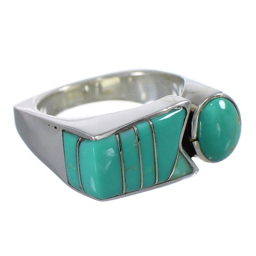 Sterling Silver Turquoise Southwest Jewelry Ring Size 7-1/4 VX61412