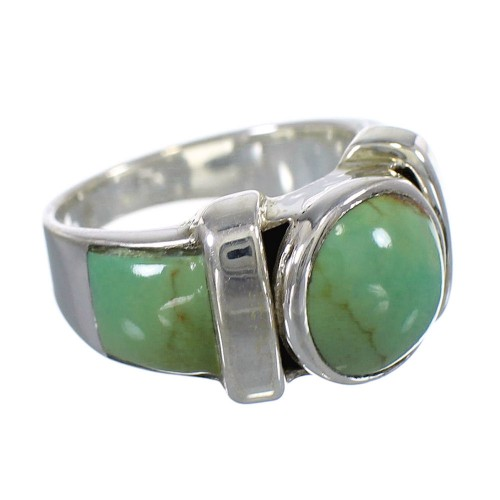 Turquoise And Southwest Authentic Sterling Silver Ring Size 5-3/4 VX61487