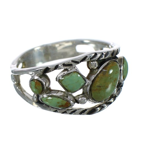 Authentic Sterling Silver Turquoise Southwest Ring Size 8-1/2 YX92735