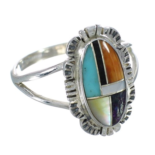 Sterling Silver And Multicolor Jewelry Ring Size 8 YX75059