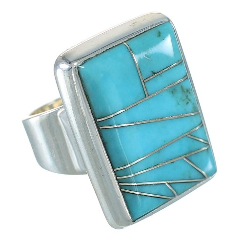 Turquoise Sterling Silver Southwestern Ring Size 5-3/4 YX70419