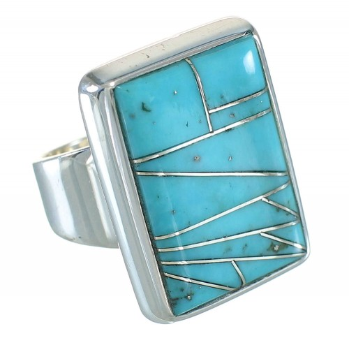 Silver Turquoise Southwest Ring Size 6-1/4 YX70422