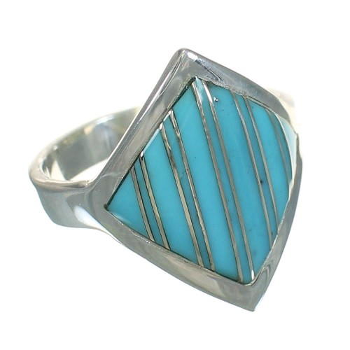 Turquoise Sterling Silver Southwest Jewelry Ring Size 8-1/4 YX70550