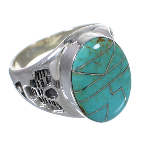 Turquoise And Authentic Sterling Silver Southwest Ring Size 11-1/4 VX62624
