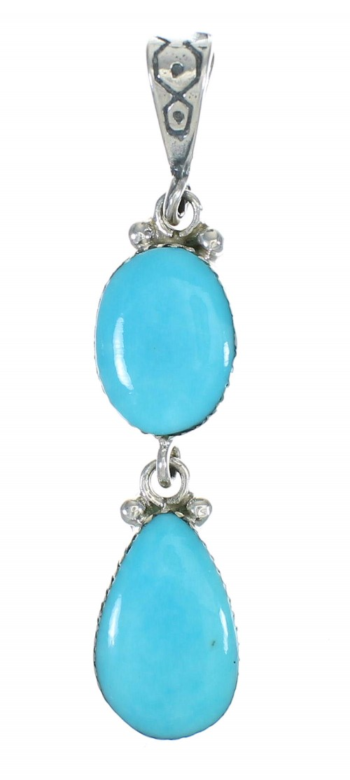 Turquoise Sterling Silver Southwest Pendant MX63031