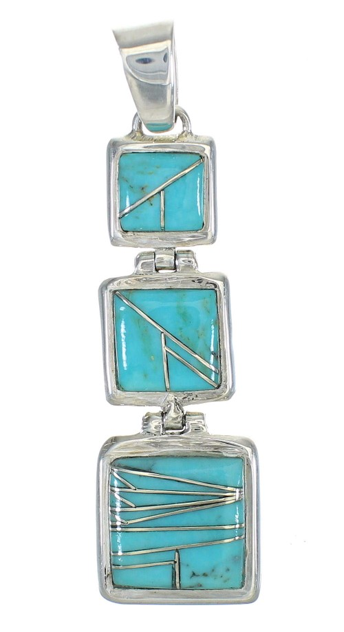 Turquoise Sterling Silver Southwest Pendant MX63065