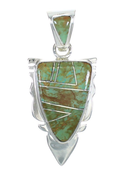 Turquoise Authentic Sterling Silver Jewelry Pendant MX62729