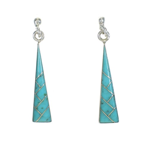 Sterling Silver Southwest Turquoise Post Dangle Earrings MX63259