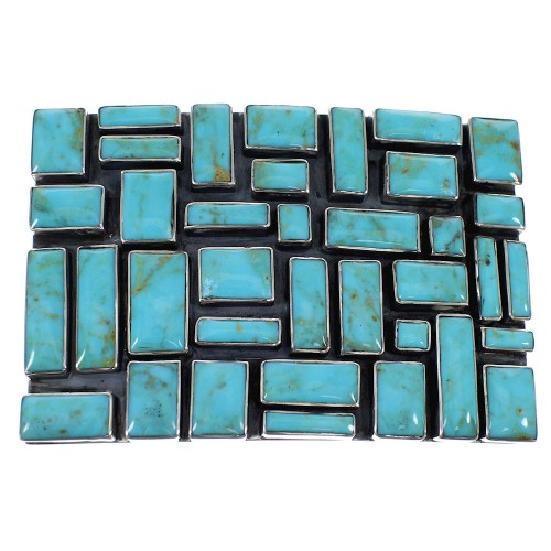 Turquoise Authentic Sterling Silver Southwest Belt Buckle AX78260