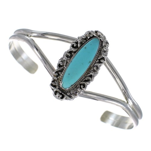 Genuine Sterling Silver Turquoise Cuff Bracelet VX63744