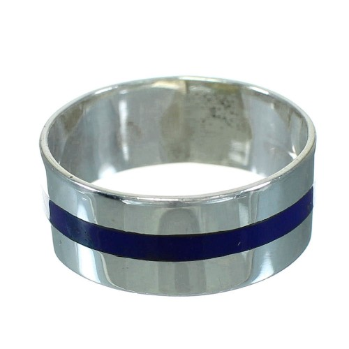 Lapis And Sterling Silver Southwest Ring Size 4-1/2 RX63648