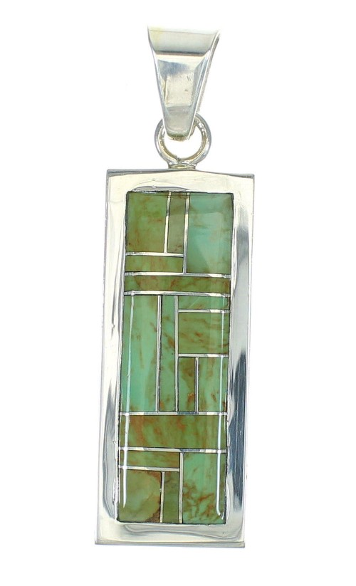Turquoise And Silver Southwest Pendant MX65277