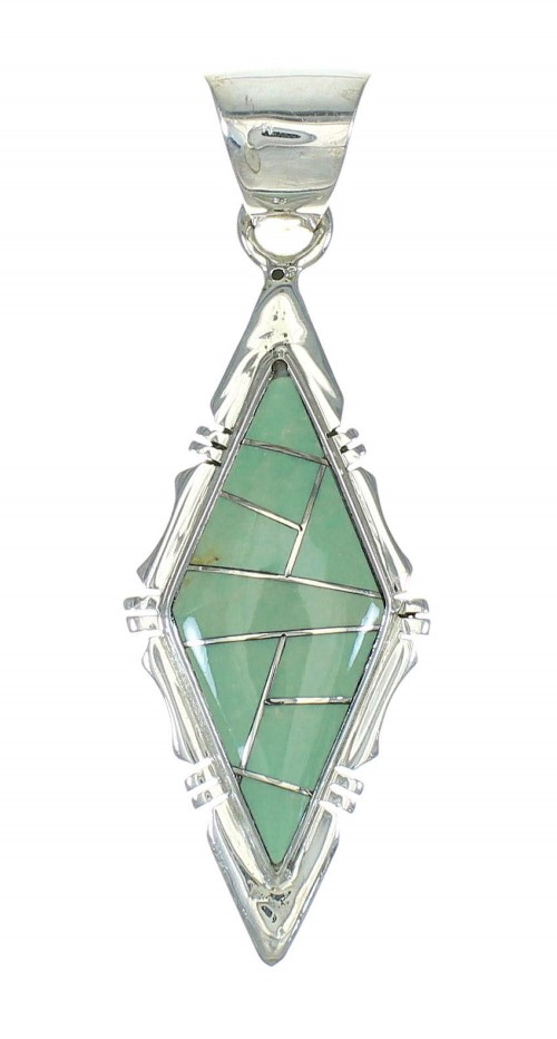 Southwest Turquoise And Genuine Sterling Silver Pendant MX65287