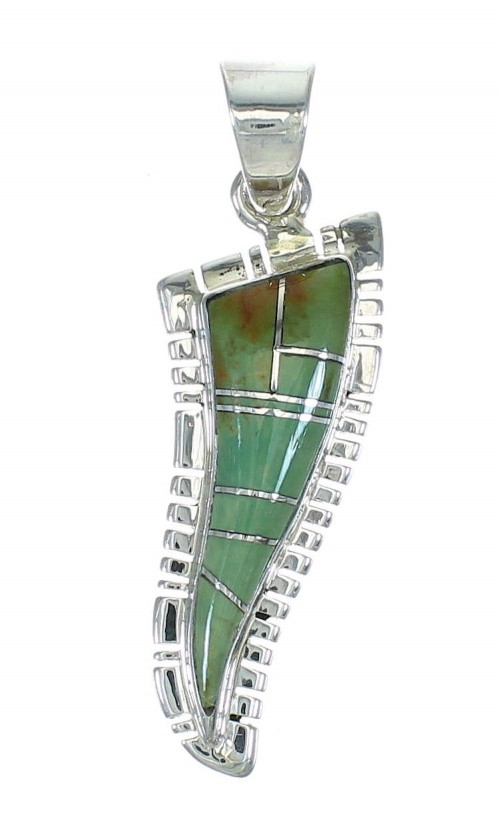 Genuine Sterling Silver Turquoise Pendant MX65349