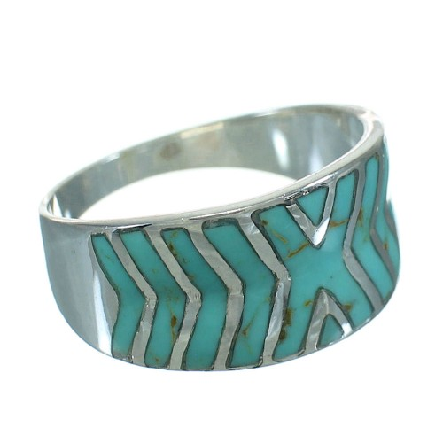 Turquoise Sterling Silver Southwestern Ring Size 8 YX79233